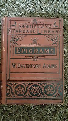 Epigrams (W.Davenport Adams) Routledge's Standard Library