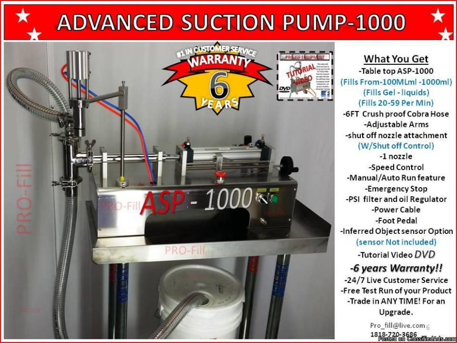 Piston Filler Single Head Advanced Suction Pump-1000 Fills Liquids,Gels,Oils