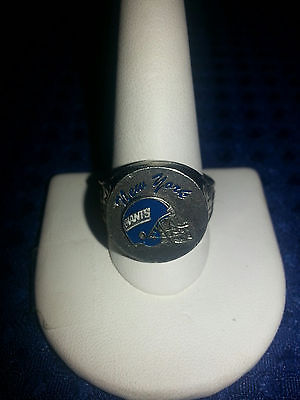 New York Giants Pewter Ring Football NFL SIZE 8