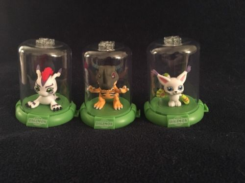 DIGIMON DOMEZ GREYMON GATOMON GOMAMON COLLECTIBLE FIGURES