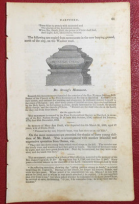 AVON, CT 1838 John Warner Barber • complete 4-page section of book