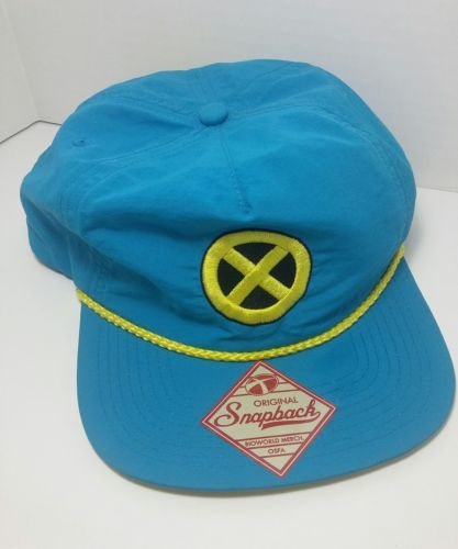 2012 Marvel X-men Snapback Cap Blue and Yellow Bioworld Merchandise