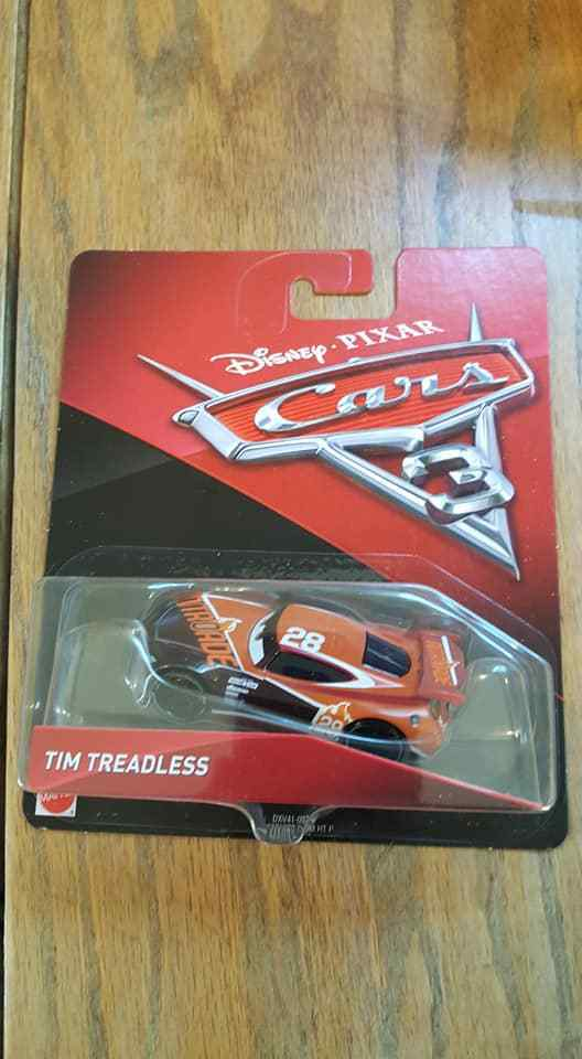 Tim Treadless Disney Pixar Cars 3 HTF