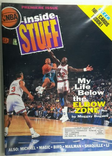 Inside Stuff Magazine (#1) Premiere Issue 1992 Fleer Cards (Michael Jordan)
