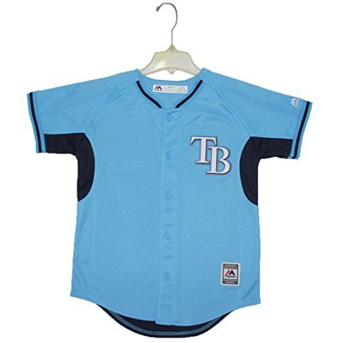 NEW Boys MLB - TAMPA BAY RAYS Dri-Fit Baseball Jersey Blue - FREE SHIPPING