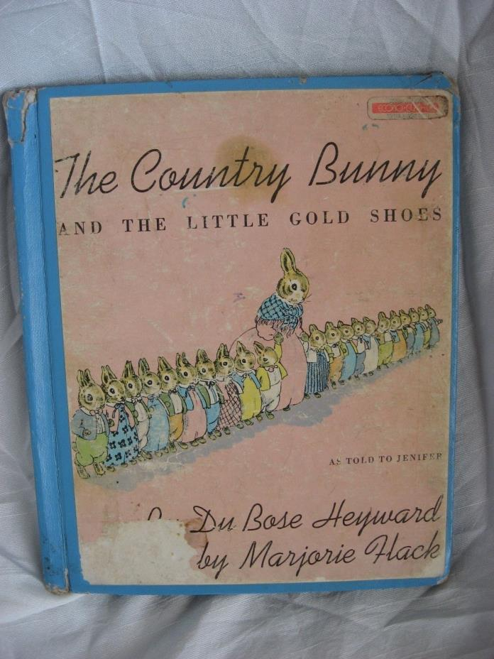 Vintage The Country Bunny and the Little Gold Shoes, Sandpiper HM  Hardcover
