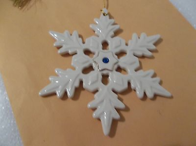 LENOX   SNOWFLAKE  ORNAMENT  NO BOX