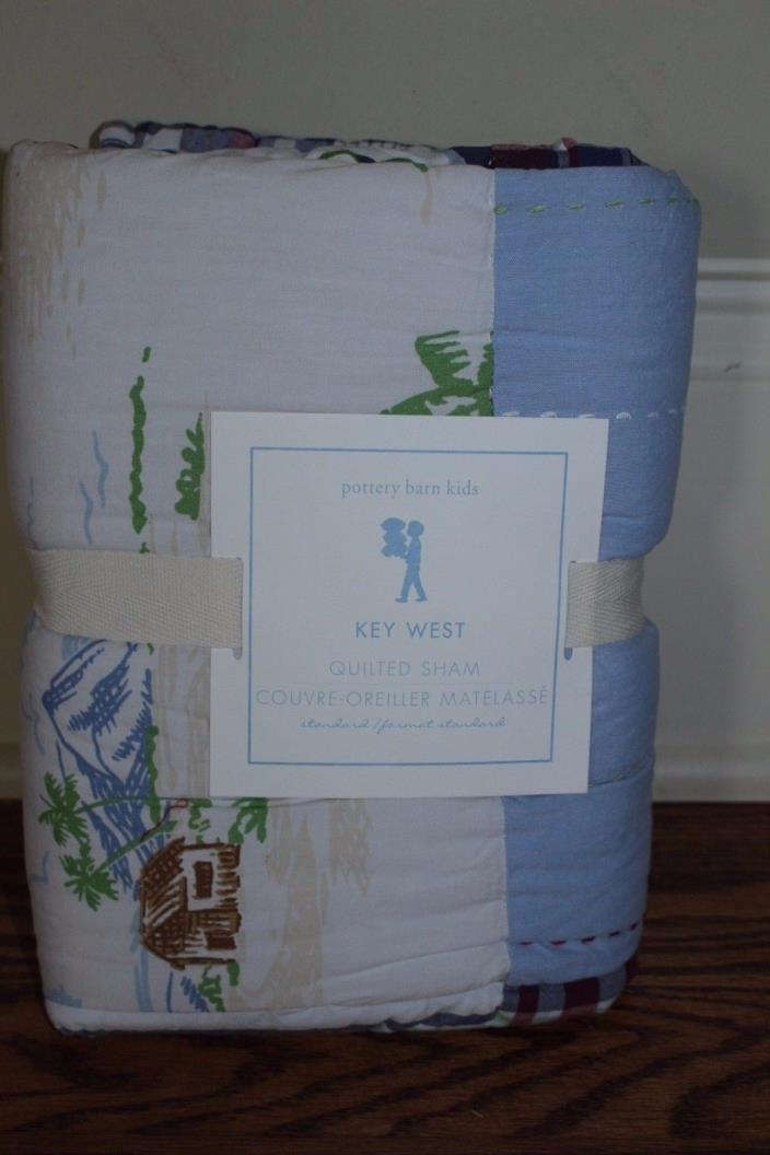 NWT Pottery Barn Kids Key West standard sham blue beach