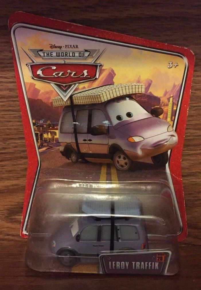 NEW Disney/Pixar The World of Cars Leroy Traffik 1:55 Die Cast Car #28