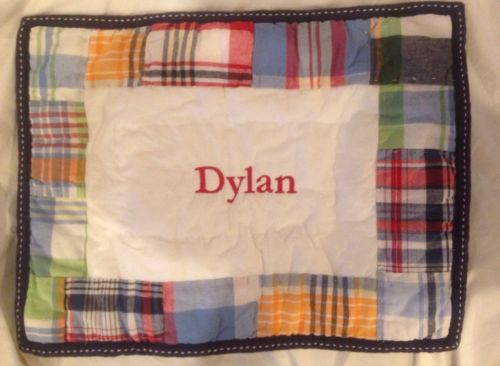 NWT Pottery Barn Kids Baby-toddler Pillow Sham Monogram Dylan