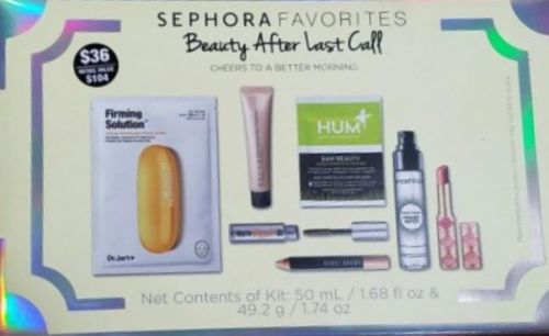 Sephora Favorites Beauty After Last Call $108 VALUE +BONUS Tarte, Becca, Dr Jart