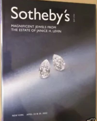 Sotheby Magnificent Jewels Janice H. Levin April 2002
