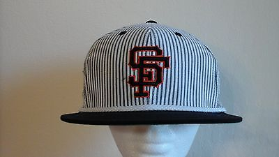 SF Giants Cooperstown Collection American Needle strap bck STRIPPED PATTERN--EUC