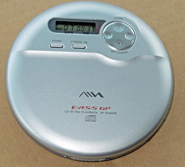 SONY AIWA XP-EV501R EASS PERSONAL PORTABLE CD PLAYER W/ CD-R/RW PLAYBACK TESTED!