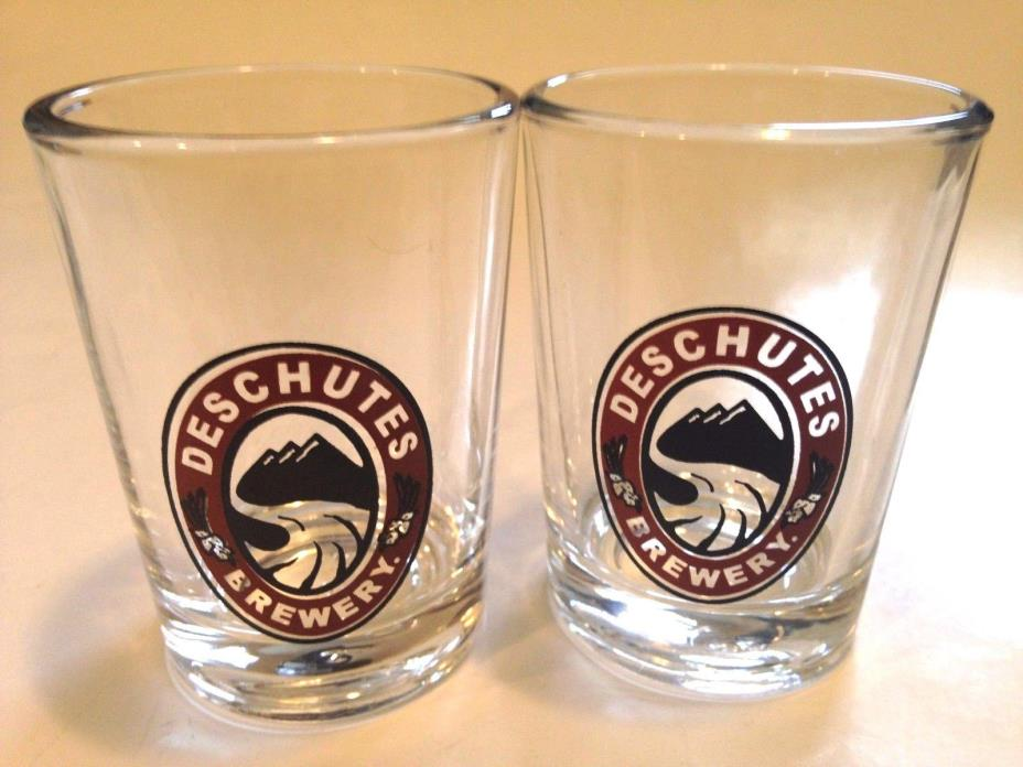 TWO COLLECTIBLE Deschutes Brewery (Bend, Oregon) Tasting Glasses! FREE SHIPPING!