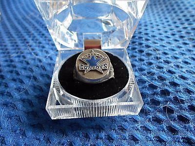 DALLAS COWBOYS NFL FOOTBALL PEWTER HAND PAINTED NEW RING SIZE 12