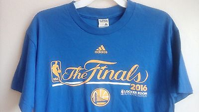 ADIDAS GOLDEN STATE WARRIORS THE FINALS 2016 LOCKER ROOM EDITION TSHIRT YOUTH XL