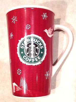 COLLECTIBLE Starbucks Coffee Christmas Holiday 2008 16oz Mug! FREE SHIPPING!