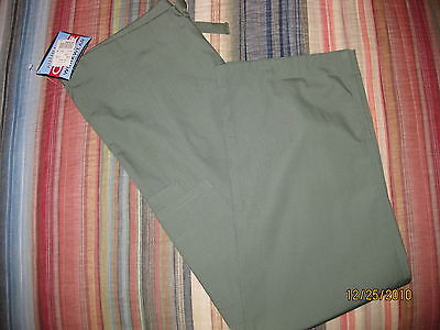 CHEROKEE WORKWEAR NWT! WOMEN'S NURSING SCRUB PANTS OLIVE GREEN X-SMALL