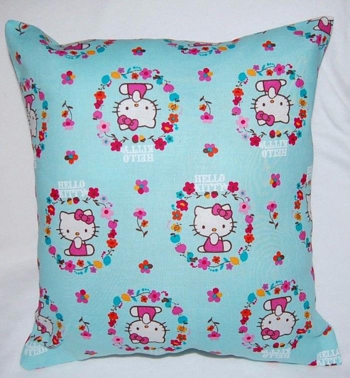 NEW  HANDMADE HELLO KITTY FLOWER  CAR / TODDLER/ TRAVEL PILLOW