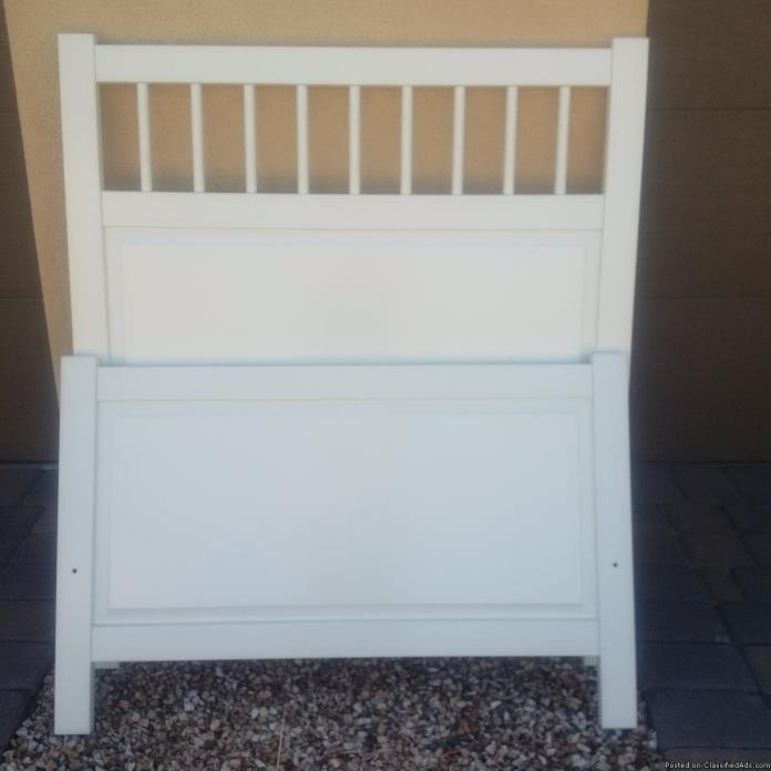White Ikea Twin Bed for Sale