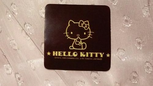 1.5in Sanrio Hello Kitty Sticker OUTLINE sillouette yellow-orange black