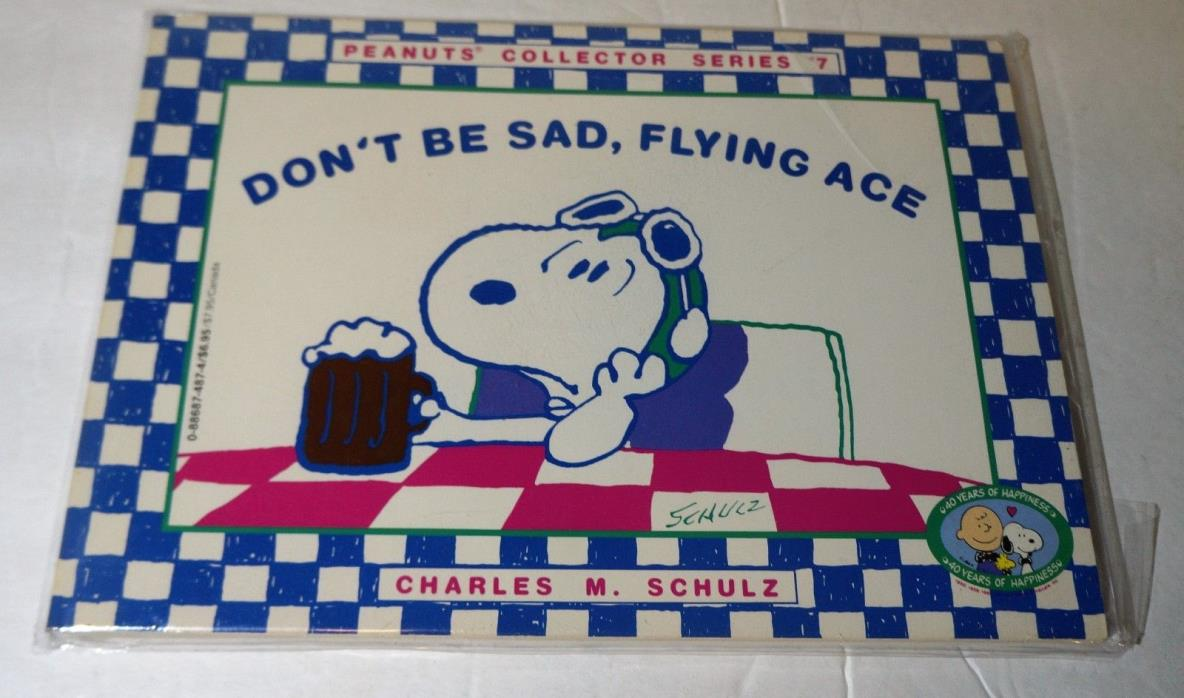 Don't Be Sad, Flying Ace, Peanuts, Snoopy, Charles Schulz, Paperback 1990