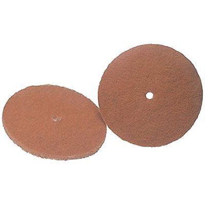 Two Pads Koblenz Genuine Tan Cleaning Polishing 6 Inch Replacement Two Retainers