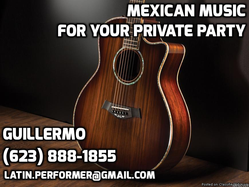 Mexican Soloist Performer. Guitarrista y Cantante. Mariachi