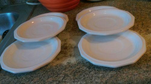 2 Vintage Pfaltzgraff White Heritage Saucers--6 1/2