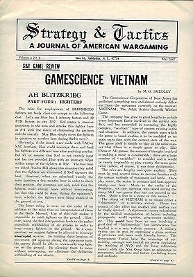 STRATEGY & TACTICS MAGAZINE VOL 1 NO 4 MAY 1967 GAMESCIENCE VIETNAM VG