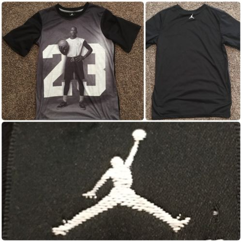 Michael Jordan 23 Black Basketball SS Boys Shirt