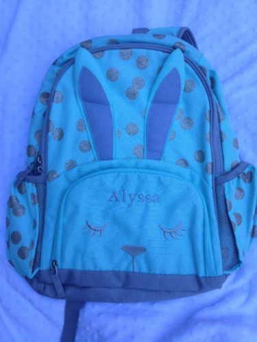New! Pottery Barn Mckenzie Critter Backpack Size Large Monogram- Alyssa