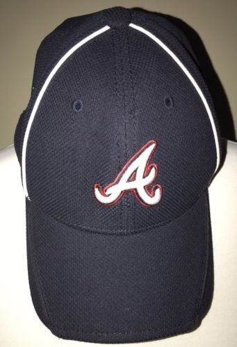 Atlanta Braves Youth Navy Blue  One Size Fits Most Authentic New Era Cap