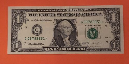 1995 $1 Chicago (G) Uncirculated Star Note Crisp Bill