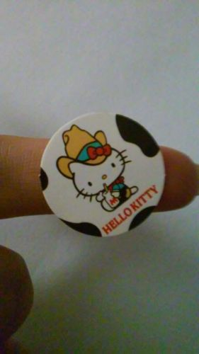 24mm, 29/32in MINI Hello Kitty Sticker COWGIRL milk glass M hat cow pattern