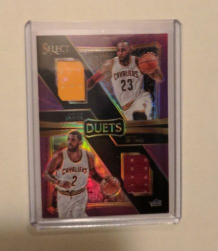 2016-17 Select Lebron James Kyrie Irving Dual Jersey 42/99 Purple Prizm