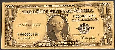 1935 E $1 DOLLAR BILL SILVER CERTIFICATE BLUE SEAL NOTE