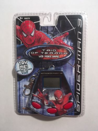 Brand New Spider-Man 3 Trio Of Terror LCD Video Game Key Chain Sealed