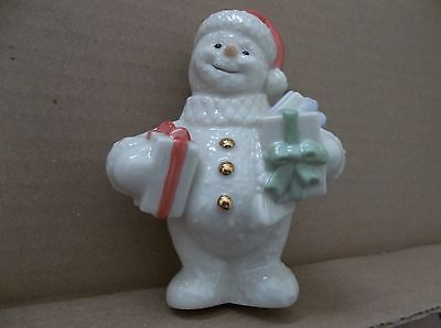 LENOX SNOWMAN HOLDING PACKAGE.  NO BOX