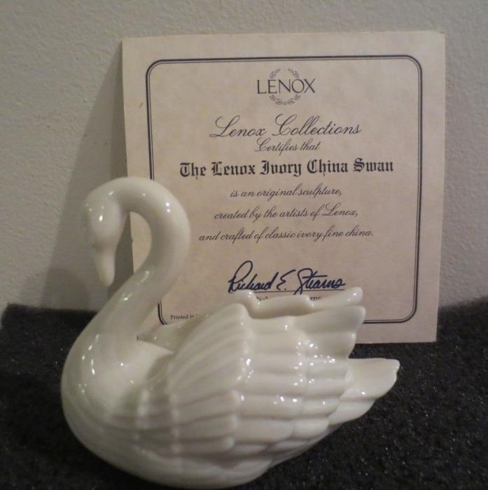 Lenox place card holder SWAN ivory porcelain new