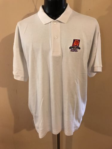 Vintage 1990's Phoenix Suns 25th Anniversary Polo Shirt Antigua Size XL White