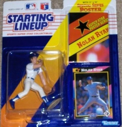 Nolan Ryan Texas Rangers Starting Lineup MLB Action Figure NIB NIP Kenner