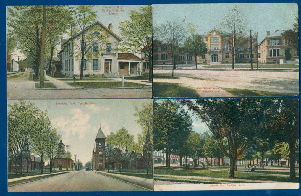 Fredonia New York lot of 4 different old postcards