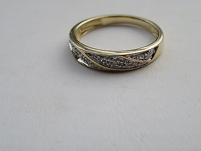Men's 10K Yellow Gold Diamond Wedding Band Ring 3.2 Grams Size 10.25