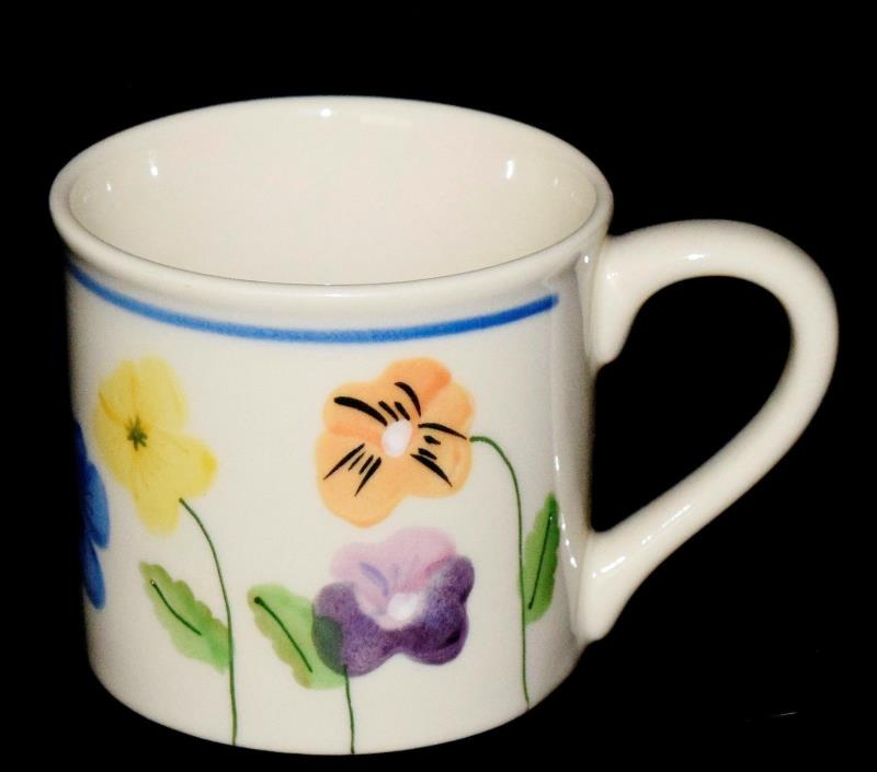 HTF Hartstone Hand Painted For Starbucks Barista Flowers Dragonfly Ladybug Mug