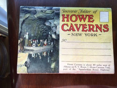 Souvenir Folder Howe Caverns NY Appalachian Scenic HWY Cobleskill
