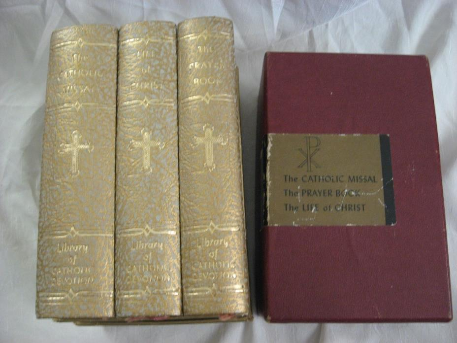 Excellent LIBRARY OF CATHOLIC DEVOTION: Prayer Book, Life of Christ, MISSAL