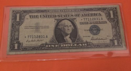 1957  $1 SILVER CERTIFICATE * STAR * NOTE circulated  LOT Of Nice Bills