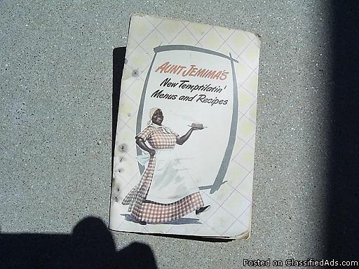 AUNT JEMIMA'S MENUS AND RECIPIES ~Black Memorabilia *